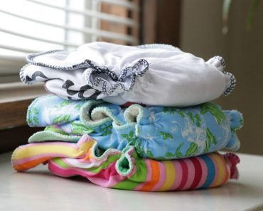 A lot of mothers swear by cloth diapers.